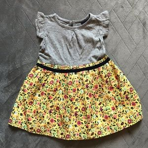 NWT Gap babyGap short sleeve grey floral dress